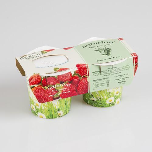 yogur de fresas