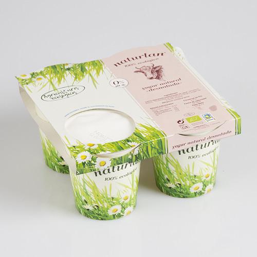 yogur de vaca natural desnatado